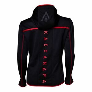 ASSASSINS-CREED-ODYSSEY-TECHNICAL-DARK-HOODED-ZIP-HOODIE-BLACK-RED-XX-LARGE