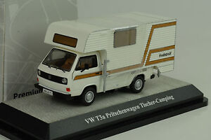 Volkswagen-VW-T3a-Flatbed-Pick-Up-Tale-Camping-White-1-43-Premium-Classixxs