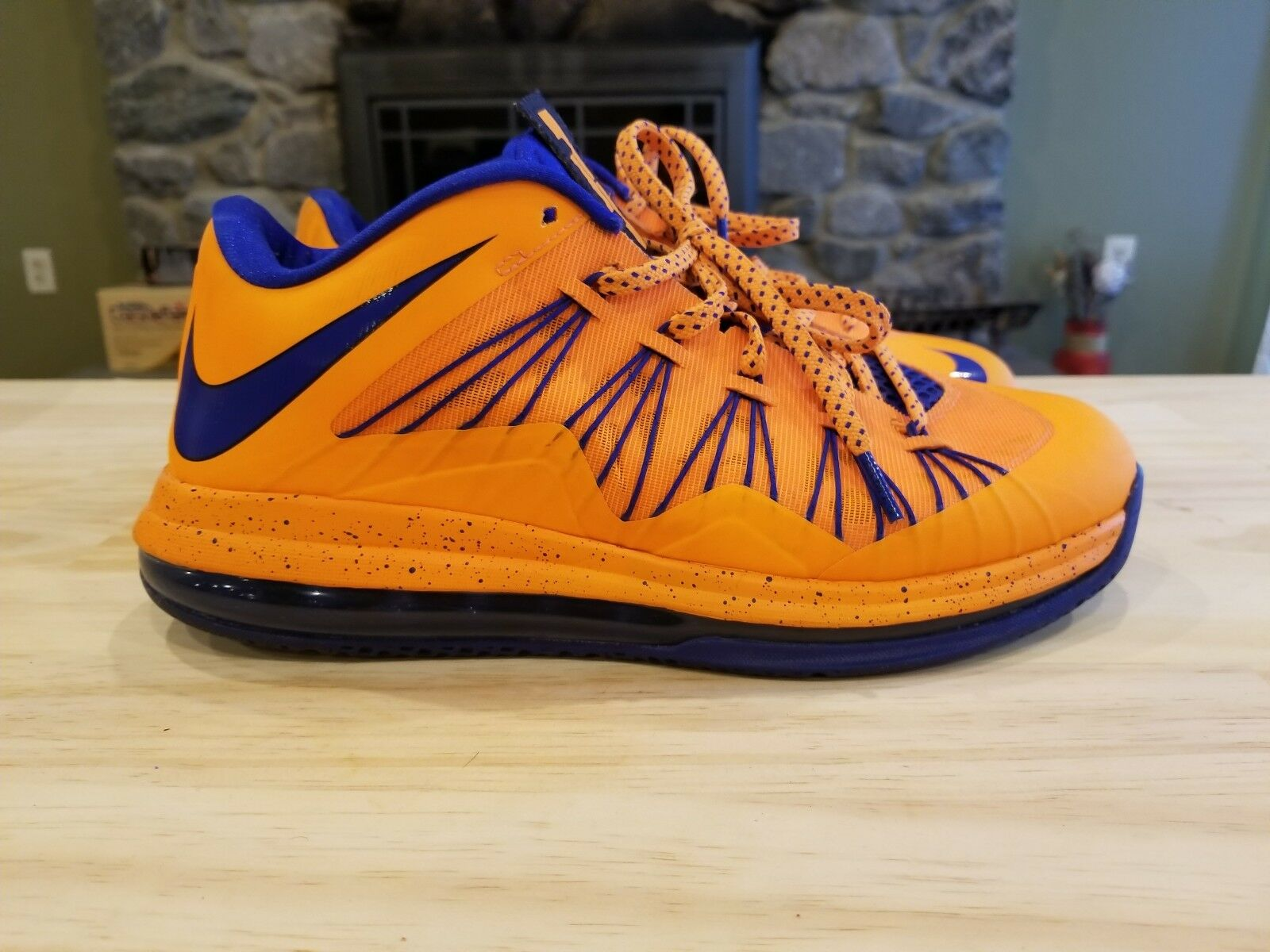 Nike Air Max Lebron X Low Bright Citrus Basketball Shoes 579765-800 Size 8.5