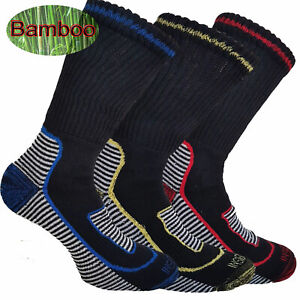 Mens-Bamboo-Cotton-Work-Boot-Socks-Breathable-Anti-Sweat-6-11