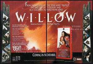 WILLOW-Original-1988-Trade-print-AD-promo-VAL-KILMER-JOANNE-WHALLEY-JEAN-MARSH