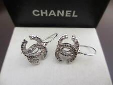 Authentic CHANEL CC hook pierced  earrings