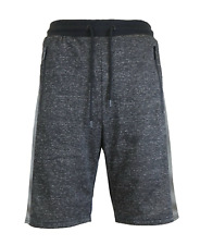 Mens French Terry Shorts Lounge Sweat shorts W/ Zipper Pockets Active Sleep NEW