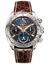 Citizen Signature Mens Moon Phase Flyback Chronograph Crocodile Watch AV3006-09E
