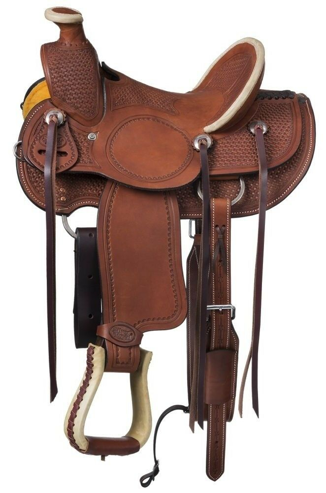 12 Inch Youth Walhalla Wade Hard Seat  Western Saddle - Med Oil-Roughout Leather  exciting promotions