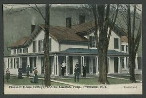 Prattsville-NY-c-1907-Postcard-PLEASANT-HOME-COTTAGE-Andrew-Carman-Proprietor