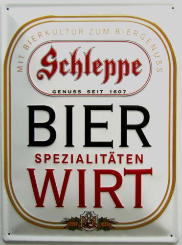 Metallschild 30x40cm Schleppe Bier Blechschild