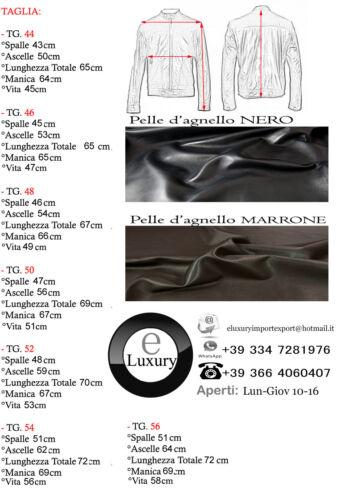 Giacca Giubbotto in Pelle Uomo Men Leather Jacket Veste Blouson Homme Cuir 23Pb