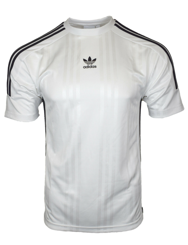 Adidas Originals Mens White Jacquard 3 Stripe T Shirt CE1641