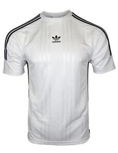728c355df46a2 Adidas Originals Mens White Jacquard 3 Stripe T-Shirt CE1641 | eBay