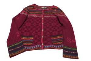 100 L frontale lana Cardigan bottoni con stile nordico dalla in multicolore Serbia RvIw1Iq