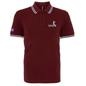 Para-Hombres-Camisa-Polo-Ska-Hombre-con-Punta-con-logotipo-bordado-Mod-Soul-retro-de-dos-tonos