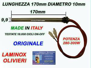 Candeletta  stufa pellet resistenza C//RAC 3//8 Diam 9,5 mm 350 W 140 mm