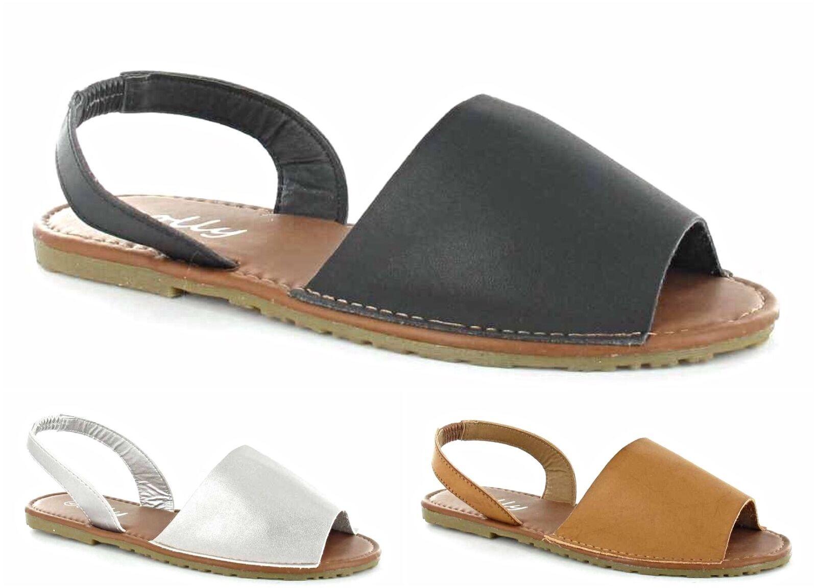 Mujer menorquino Sandalias Verano PALMA TIRA TRASERA FLIP SOLAPA PLAYA PALMA Verano Zapatos 176e62