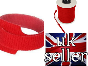 Velcro Cable Ties One Wrap Reusable Double Sided Strapping 10 X 20mmx  200mm RED