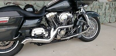 2 INTO 1 PERFORMANCE PIPES WITH SIDE DUMP PIPES HARLEY TOURING FLT