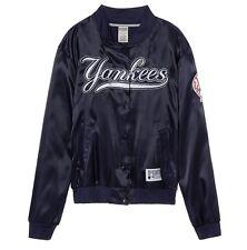 NWT VICTORIA'S SECRET PINK MLB NEW YORK YANKEES LARGE SATIN BOMBER JACKET COAT