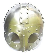 Medieval Viking Mask Knight Warrior Delux Helmet With Liner For Man-Replica