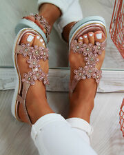 db7219f7a item 4 New Womens Flatform Sandals Embellished Slingback Comfy Holiday  Shoes Sizes 3-8 -New Womens Flatform Sandals Embellished Slingback Comfy  Holiday ...