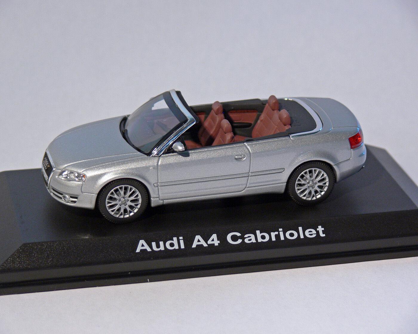 Audi A4 Cabriolet, Argent métallisé, 1 43, NOREV