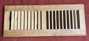 Red Oak Wood Floor Register, Drop In Vent, 4x12 Inch | eBay