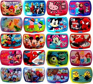 KIDS-CHARACTER-LUNCH-BOX-ASSORTED-FOOD-FRUIT-SANDWICH-CONTAINER-SCHOOL-PICNIC