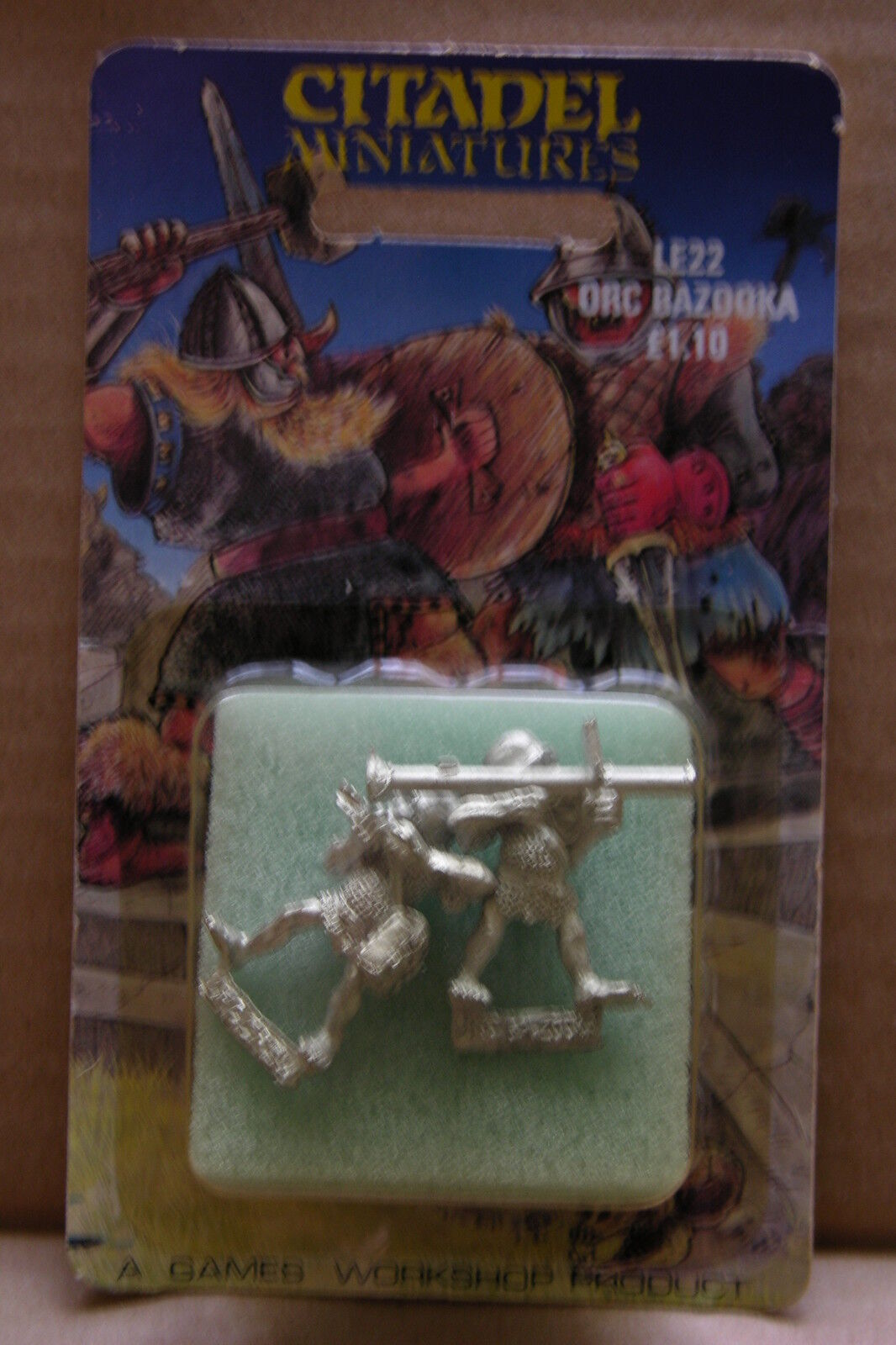 CITADEL LIMITED EDITION RELEASE   LE22,ORC BAZOOKA TEAM,BLISTER UNOPENED