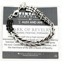 Alex And Ani Vintage Sixty Six Spark Of Revelry Jet Rs Flapper Bracelet