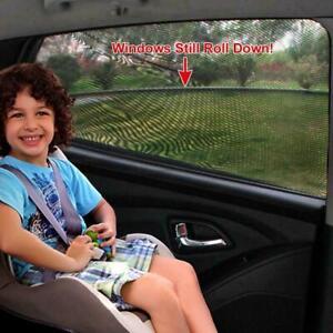 2PC-Stretchy-Car-Window-Sun-Shade-Cover-Curtain-UV-Protection-Shield-Visor-Mesh