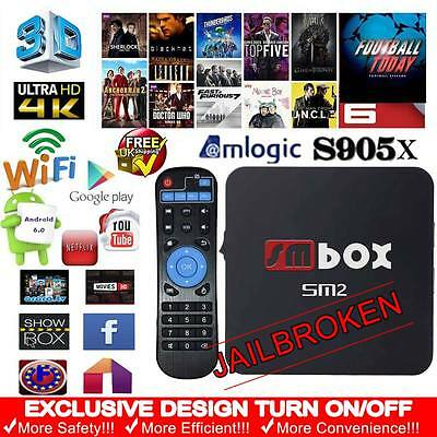 Android 6.0 TV Box 4K Quad Core Wifi Fully Loaded Latest 16.1 Free Sport Movies