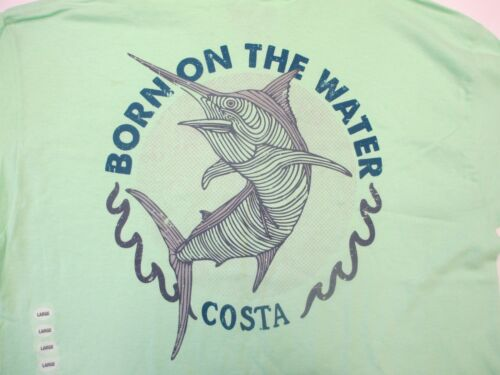 New Authentic Costa Del Mar, Relic, Mint Green, Short Sleeve TShirt Size Large