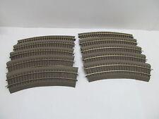 MES-49501Roco Line H0 10 St. Gleise mit Bettung mit Gebrauchsspuren,