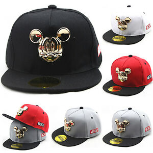 Toddler Kids Boys Girls Mickey Mouse Snapback Hat Adjustable Hiphop ... 9305418ac81a