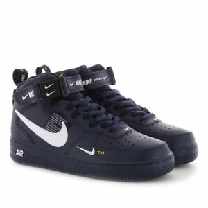 huge selection of 3a2d0 10b8c Details about NIKE AIR FORCE 1 MID 07 LV8 MENS OBSIDIAN BLUE 804609-403  RETRO AF1 OG UTILITY
