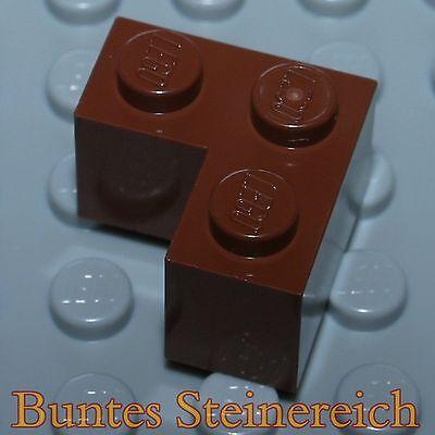 8x LEGO® 2357 2x2 Eckstein Winkel Ecke braun NEU reddish brown