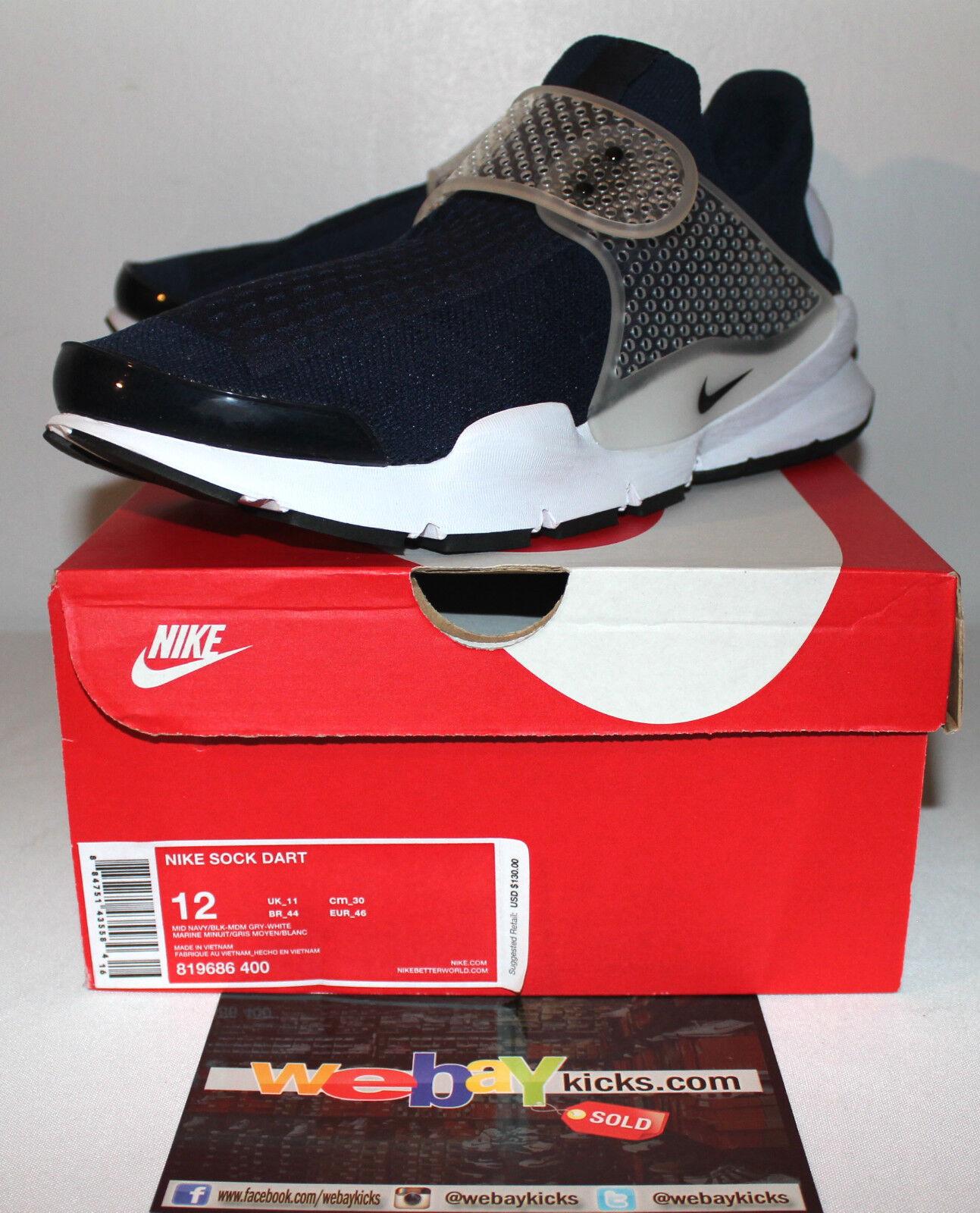 Nike Sock Zapatillas Dart Malla Azul Marino Air Blanco Zapatillas Sock Para Hombres Nuevos 43067d