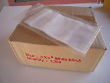 Closeout 3 X 5 White Block 2 Mil Zip Lock Bags Box Of 1000 Bags