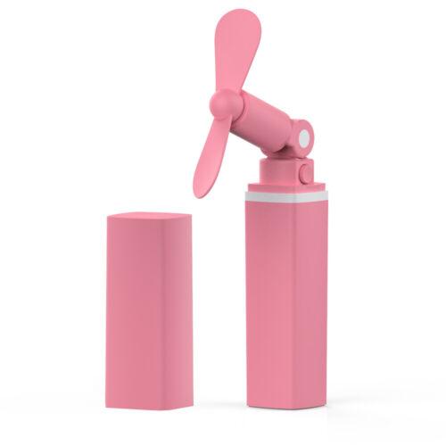 Mini Pocket Handheld USB Electric Lipstick Fan Cooler Rechargeable Home E0U5