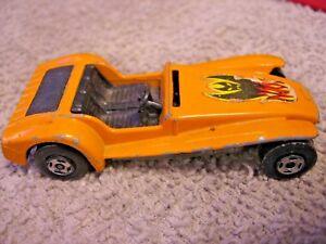 1971-LESNEY-Toy-Car-LOTUS-SUPER-SEVEN-No-60-MATCHBOX-SUPERFAST-England-ORANGE