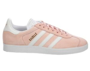 huge selection of 4178f c50de Image is loading Adidas-Gazelle-Womens-BA9600-Vapour-Pink-White-Suede-