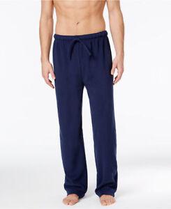 Club-Room-Men-039-s-Fleece-Blue-Solid-Size-M-Pajama-Lounge-Pant