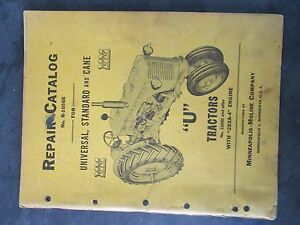 Details About Minneapolis Moline U Tractor Repair Catalog