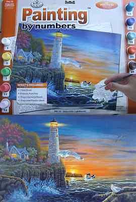 Malen Nach Zahlen Leuchtturm Malerei A3 Acrylfarbe & Pinsel PAL18