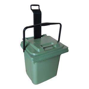 45-Liter-Rollbox-Futtertonne-Tierfutterbox-Griff-Rollen-Sulo-Muelltonne-NEU-gruen