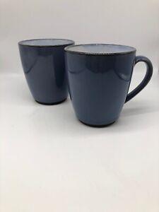 Sango-Nova-Blue-Mug-Coffee-Cup-Microwave-Safe-EUC-Set-Of-2