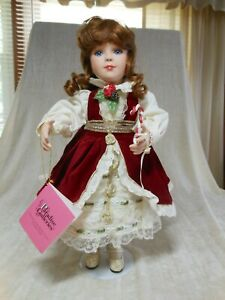 PARADISE-GALLERIES-Christmas-Joy-14-034-Porcelain-Doll-by-PATRICIA-ROSE-w-c-o-a