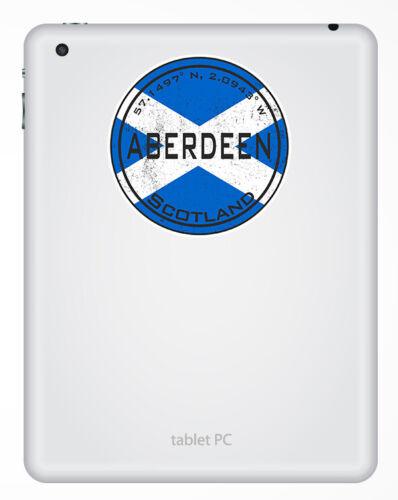 2 X 10cm Aberdeen Escocia-Escocés Bandera De Pegatinas De Vinilo Pegatina equipaje #20417