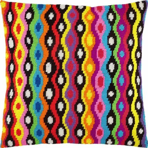 """Needlepoint//Tapestry Pillow Cover DIY Kit /""""Bolivia/"""""""
