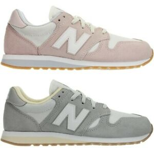 New-Balance-wl520-Rose-Ou-Gris-Femmes-Daim-Low-top-Baskets-Chaussures-NEUF