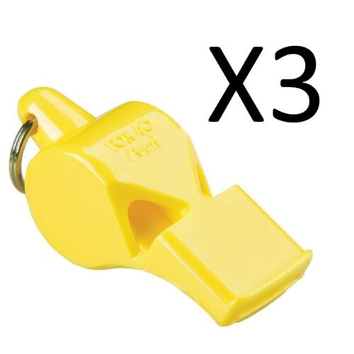 jaune 3-pack Fox 40 Pearl 2-Chambre pealess Sifflet